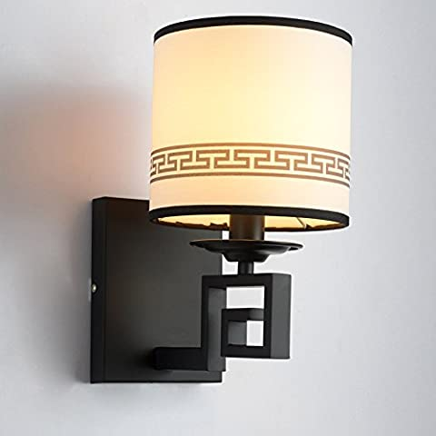 LIVY Breve cinese nuovo ferro tessuto creativo parete lampada comodino Cina aria spazio corridoio camera da letto illuminazione esterna