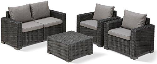 Allibert Lounge California Sofa, graphit/panama cool grau, 141 x 68 x 72 cm, 233051 - 3