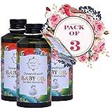 Nature's Veda Dasapushpam Baby Oil 150 ML - Pack of 3