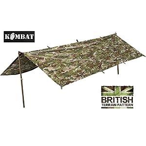 Army Waterproof Military Combat Basha Shelter Poncho Camo US & British Army  Tent
