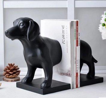 serre livre design decoration vintage retro Étagère à livres Sculpture Chien