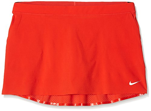 Nike Damen Innovation links Woven Skort – Light Crimson/Metallic Silber, Medium (Skirt Spandex Woven)