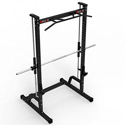 #MegaTec Multipresse / Free-Rack mit Multi-Grip Klimmzugstation / Scheibenaufnahme 30 mm#