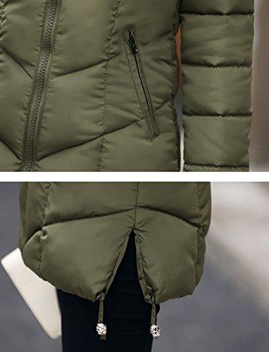 WanYang Donna Giacca Con Cappuccio Colletto Grande Pelliccia Giacca Più Sottile Giù Giacca Sottile Femminile Esercito Verde
