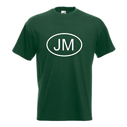 KIWISTAR - Jamaika JM T-Shirt in 15 verschiedenen Farben - Herren Funshirt bedruckt Design Sprüche Spruch Motive Oberteil Baumwolle Print Größe S M L XL XXL Flaschengruen