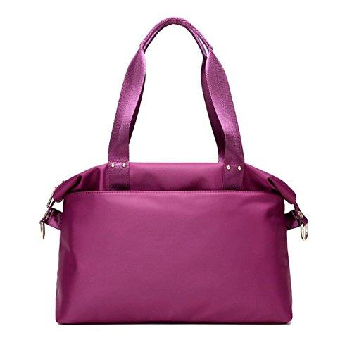 Oxford Borse Di Stoffa Di Moda Selvaggio Signore Sacchetto Di Spalla Casuale Borsa Di Tela Nylon Impermeabile Purple