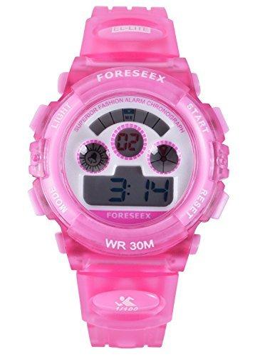 fsx-519g sport digitale led resistente all'acqua orologio da polso bambina ragazza(rosa)