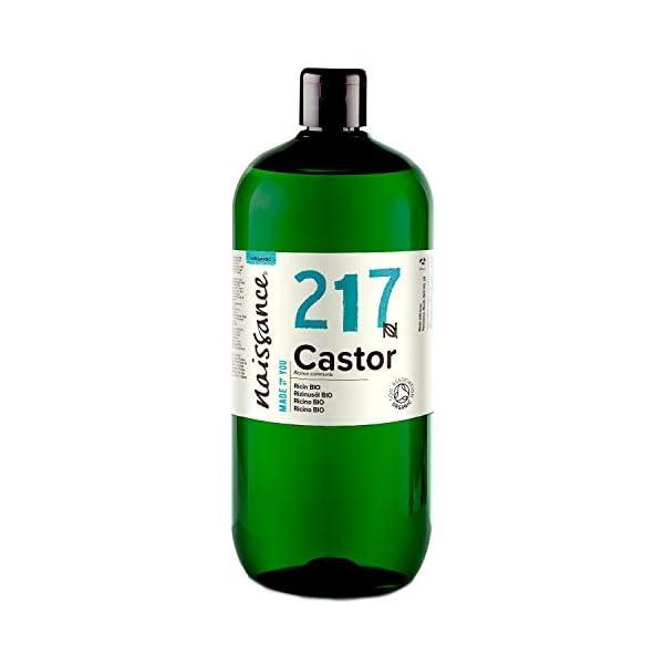 Naissance Aceite de Ricino BIO 1 Litro – Puro, natural, certificado ecológico, prensado en frío, vegano, sin hexano, no…