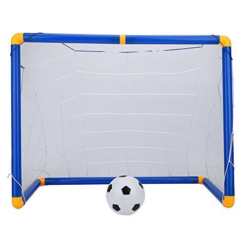 l Spielzeug Set Kunststoff Tragbare Fußballtornetz Fußball Torpfosten Net Fußball Sport Spielzeug Set mit Pumpe und Ball für Indoor/Outdoor Garten, Kinder Geschenk ()