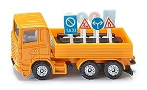 Siku LKW  - Camión con señales de tráfico, color naranja  (1322)