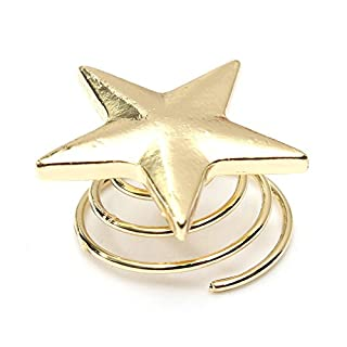 10 Pcs 2*2cm Gold Star Design Bangs Mini Turn Spring Clip Hair Claw Clip Hair Pin Accessories for Girl Women Baby by Attractive beauty