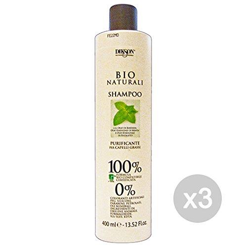 Set 3Dikson Shampoo Bio natürlichen reinigend BARDANA/Minze/Eukalyptus 400ml für Haar