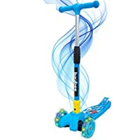 BAYBEE Flash 3 Scooter for Kids, 3 Wheel Smart Kick Scooter with Foldable and Height Adjustable Handle for Kids Age 2-9…