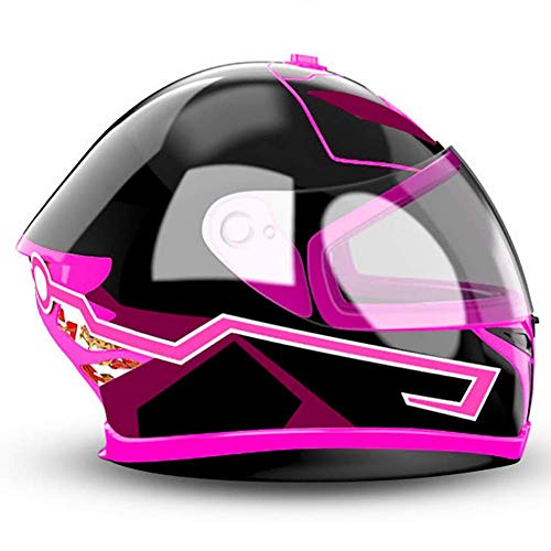 Casco da Moto LED Light, personalità Moda DIY Cold Light Night Riding Signal Luminoso Modificato Strip Sticker Rosa, Rosso, Bianco 2PCS,Pink