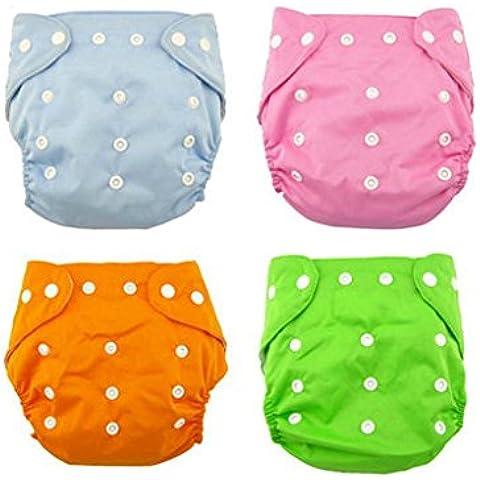 Andyshi bebé cómodo reutilizables pañales pañales de tela bebé ajustable lavable (Pack de