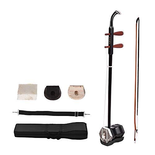 ammoon Solidwood Erhu Chinesische 2-saitige Violine Fiddle Stringed Musikinstrument Instrument Chinese 2-string Musikinstrument + Gratis Zubehör Dark Coffee