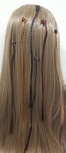 Takestop® set 12 pezzi treccia trecce treccine fascia clip pinza extension lunga 30cm ferma capelli accessori colore casuale