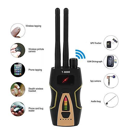 ASHATA HF Signaldetektor, 1.2G/2.4G Erkennung HF Signaldetektor 1MHz-8000MHz Anti-Spy-Bug,High-Speed HF Signal Detektor GSM-Audio-Sucher Mini GPS Detektor mit Antenne