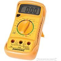 Electrical Tester Expert AC e DC multimetro digitale–multimetro manuale misure tensione AC e DC; DC Corrente e resistenza. Cat ii. Prove NPN, PnP Transistor e diodi. 1000V nominale Sonde. Grande Display Digitale per una facile lettura con retroilluminazione pulsante. Built-in continuità cicalino. Pulsante di blocco. Gomma Custodia protettiva con supporto integrale. Fornito con sonda di temperatura per misurazione di temperatura, test Leads. richiede batteria da 9V (non inclusa).