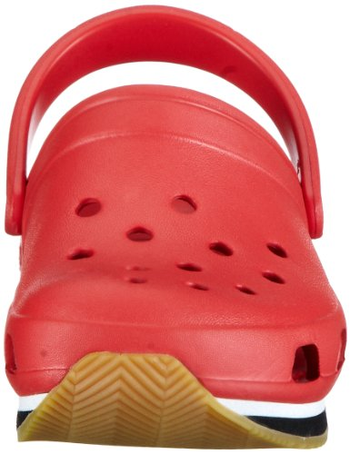 Crocs Retro, Sabots mixte enfant Rouge (Red/Black)