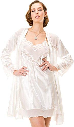 stylenmore - Robe de chambre - Kimono - Uni - Femme Multicolore - Ivoire