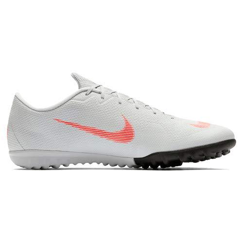 Nike Herren Mercurial Vapor XII Academy TF Fußballschuhe, Grau/Rot, 46 EU - Männer Schuhe Nike Für Turf