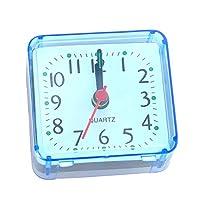 Garciakia Creative Cute Small Square Crystal Alarm Clock Watch Alarm Clock Bedroom Bedside Office Electronic Clock(Color:blue)