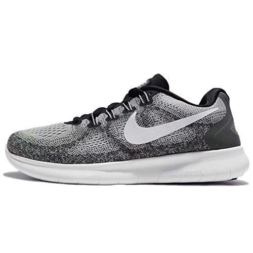 Nike - Free Rn 2017, Scarpe da corsa Donna Grigio (Wolf Grey/off White-pure Platinum-black)