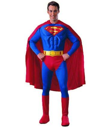 Herren-Kostüm Deluxe Superman, Gr. (Kostüme Deluxe Superman)