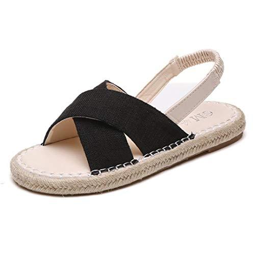 Frauen Espadrille Cross Band Flache Sandalen Slip on Open Toe Zurück Elastic Strap Slingback Sandale Sommer Strand Schuhe 6-zoll-sexy Slingback-schuh