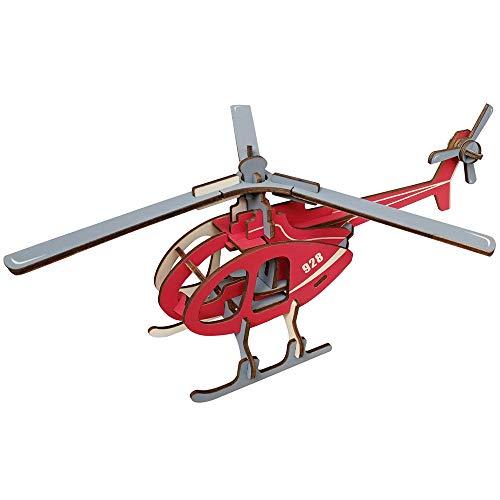 MXMYFF 3D Holz Puzzle DIY Montage Hubschrauber Bausatz Kinder Lernspielzeug Denkaufgabe Spiel für Jugendliche