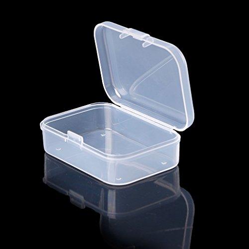 Aufbewahrungsbox aus Kunststoff, rechteckig, transparent