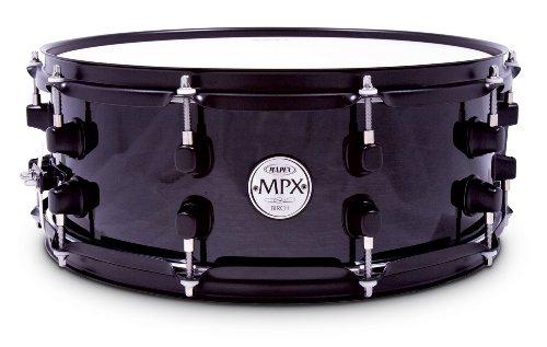 mapex-mpx-14-pulgadas-x-55-pulgadas-todos-abedul-snare-drum-en-transparente-negro-acabado-lacado-con