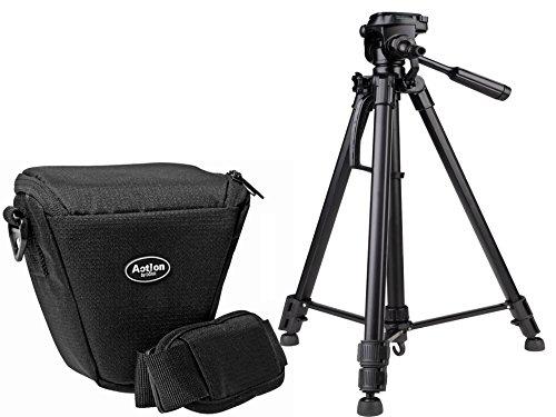 Foto Kamera Tasche ACTION COLT Set mit Stativ inkl. Stativtasche für Sony Alpha 6500 6300 6000 5100 5000