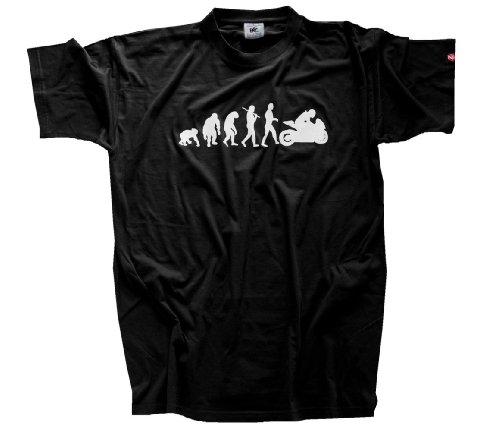 Shirtzshop Erwachsene T-Shirt Original Motorrad I Biker Evolution, Schwarz, L, sshop-evomotsp-t (Motorrad Schwarze Biker T-shirt)