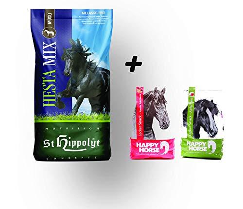 St. Hippolyt Hesta Mix Müsli 20 kg und wir schenken Ihrem Pferd 2 x 1 kg Happy Horse Lecker Snacks