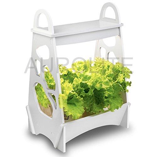 Mini giardino AUROLITE, Design Classico, LED Luce per piante, 14W, luce per coltivazione di piante a LED, LED Herb Garden, LED Veg Grow Light, Grow Your Own, 48 cm x 13,8 cm x 32 cm, ideale per la casa, l'ufficio o il ristorante
