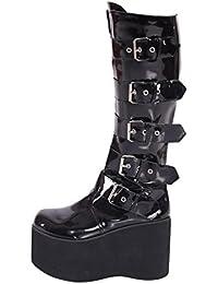 Kassiopeya - Botas para mujer Negro negro 36, color Negro, talla 36