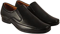 Action Synergy Mens PL4492 Black Formal Shoes