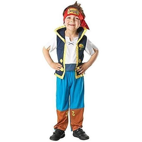 Offiziell Lizenziert Disney Mädchen Jungen Izzy oder Jake und die Nimmerland Piraten Buch Tag Woche Halloween Kostüm Kleid Outfit - Jake, 116