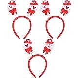 TENDYCOCO 4PCS Christmas Santa Headband Snowman Hair Band Cute Hair Hoop Xmas Headdress Party Favors Photo Props For Kids Adults