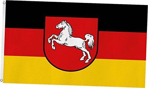 Normani TOP qualité ! drapeau-dimensions : env. 90 x 150 cm-grammage : tissu ordinaire 110 g/m² Niedersachsen