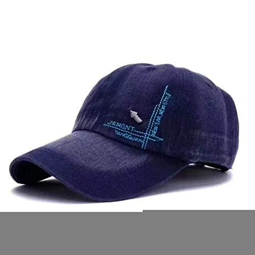QWER Baseballmütze Cowboy Baseball Cap Baseballmützen Fashion Unisex Sport Einstellbarer Hut Casual Women Men Denim Hat - Denim-baseball-hüte Womens