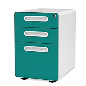 Devaise Mobile 3 Drawer Filing Cabinet Pedestal With