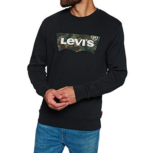 Levis Herren Sweatshirt Graphic Crew 19492-0064 Ssnl Hm Fill Crew Mineral Black, Größe:XL (Graphic Crewneck Sweatshirt)
