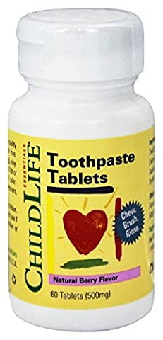 Essentials, Dentifrice Tablets, Natural Berry Flavor, 500 mg - Childlife