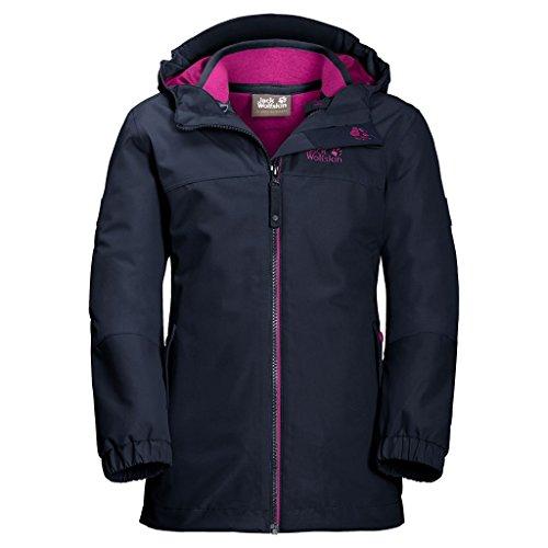 Jack Wolfskin Mädchen G Iceland 3-in-1 Jacket 3-in-1 Jacke, Midnight Blue, 164 (Winter Mädchen Jacke)