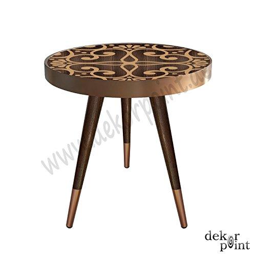 Beistelltisch Couchtisch Nachttisch Nierentisch Coffee Table Tisch Telefontisch Wohnzimmertisch Design Motiv Muster Größe 55 cm x 45 cm