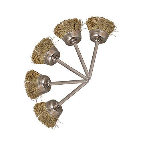Cnbtr oro a forma di ciotola in acciaio INOX filo spazzola per la pulizia industriale (Filo Spazzola Della Ciotola)