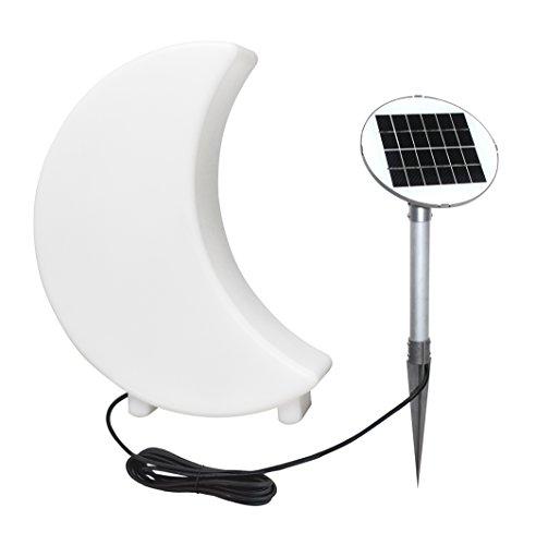 8 Seasons Design Mini lampe en forme de croissant de lune pour intérieur et extérieur, Polyéthylène, Weiß, 40 cm, Integriert